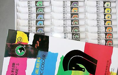 Artist's 12ml Acrylic Paints Set of 24 Assorted Colors