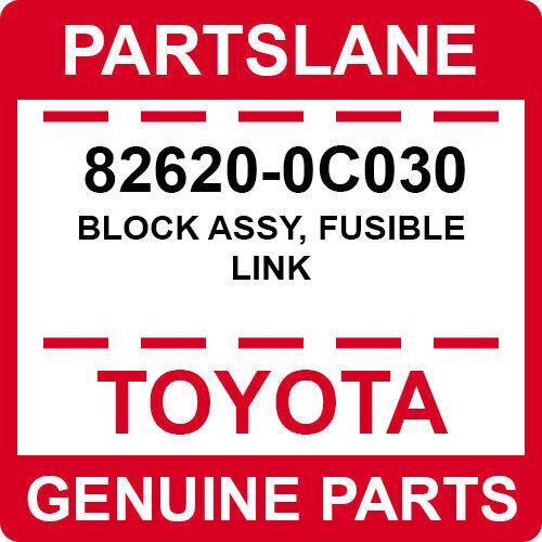 FUSIBLE LINK 82620-0C030 Toyota OEM Genuine BLOCK ASSY
