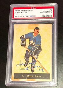 DAVE-KEON-SIGNED-1961-PARKHURST-TORONTO-MAPLE-LEAFS-ROOKIE-CARD-PSA-DNA-27267683