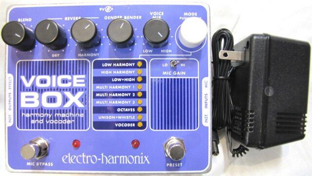 electro harmonix voice box reverb guitar effect pedal for sale online ebay. Black Bedroom Furniture Sets. Home Design Ideas
