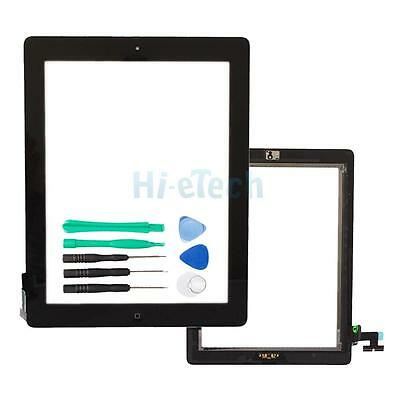 Black Touch Screen Glass Digitizer Replace + Home Button for iPad 2 A1396