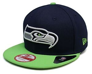 Adult NFL® New Era® Seattle Seahawks Bind Back 9Fifty™ Snapback Hat ... 753df6b15609