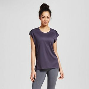 edb4468f3b6de c9 Champion women's Mesh Run T-shirt Indigo Screen Gray | eBay