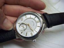 Philip Stein Large Round Chronograph Watch w/ Calfskin Strap $620