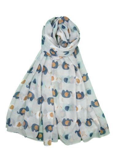 Women Elephant Print Scarf Fashion Ladies Animal Wrap  Shawl Soft Stole 7 Colors