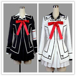 Vampire-Knight-Cosplay-Costume-Yuki-Cross-White-or-Black-Womens-Dress-uniform