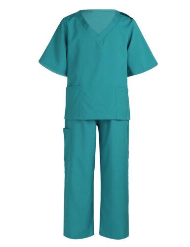 Kids Boys Girls Children Surgeon Costume Doctors Coat Fancy Dress Party Outfit