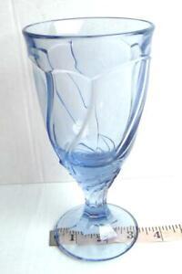 Noritake-Sweet-Swirl-Blue-Glass-Drinking-Goblet-Stemware-7-3-8-034