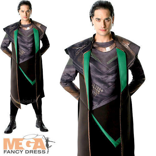 Thor Loki Villain Superhero Marvel Comic Film Mens Fancy Dress Adult Costume