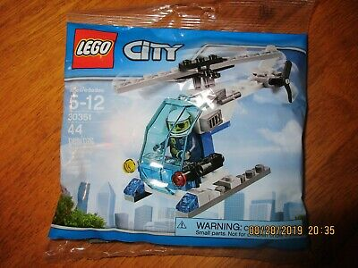 LEGO CITY POLYBAG POLICE MINIFIGURE HELICOPTER 30351 BUILDING TOY