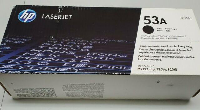 HP LASERJET 53A BLACK NOIRE PRINT CARTRIDGE Q7553A BRAND NEW SEALED! - Free Ship