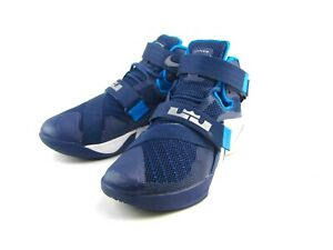 low priced adfa5 0129d Details about Nike LeBron Soldier IX 2015 Blue Basketball Sneakers  #749498-402 US Men's Size 7