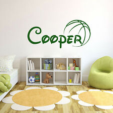 Personalized Boy Name Wall Decals Sport Basketball Decal Nursery Decor DR72