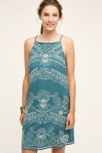 83404a772355c Image is loading Anthropologie-Broderie-Lace-Swing-Dress-by-Floreat-Size-