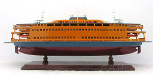 Details About Staten Island Ferry Boat Wooden Model 24 Handcrafted Statue Of Liberty Ship