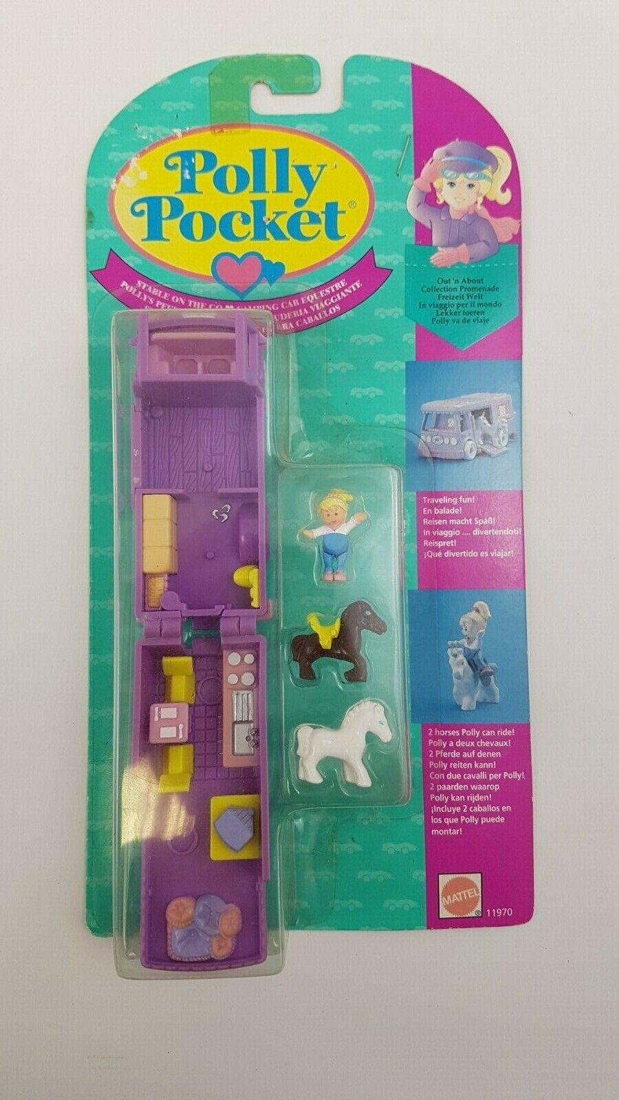 Nuevo y Precintado Polly Pocket Estable On The Go Out N' About Azulejo Mattel