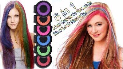 Tinta Colore Temporaneo Per Capelli Bambini 6 Colori Tintura Colorata Carnevale Ebay