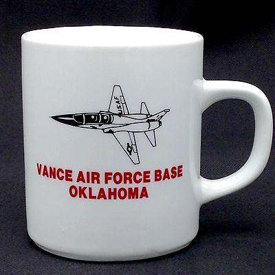 Vance Air Force Base Oklahoma USAF Coffee Mug Cup Fighter Jet Aviation Military
