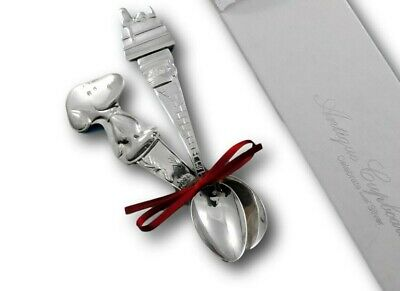 New Snoopy Silverplate Infant Feeding Spoon Made by Lunt