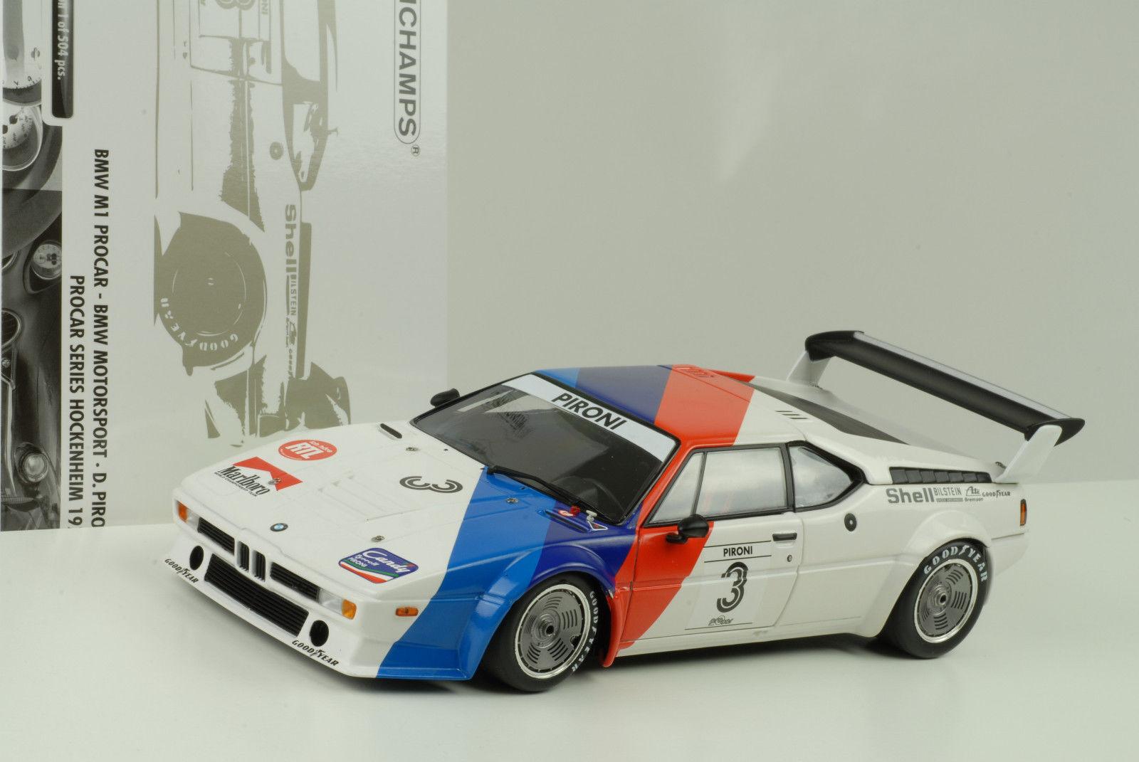 1979 BMW Motorsport Motorsport Motorsport m1 Procar Hockenheim #3 Pironi avec décalques 1:18 Minichamps | Forme élégante  8a10ab