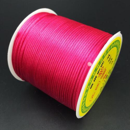 55M 1.5mm Braided Chinese Knotting Shamballa Macrame Nylon Cord String Thread US