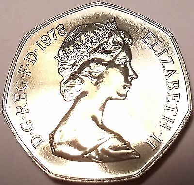 Scarce Proof Great Britain 1978 Penny~88,000 Minted~Crowned Portcullis~Free Ship