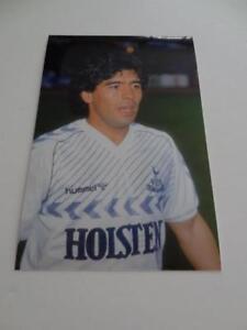 Diego Maradona Playing For Tottenham Hotspur Fc Ossie Ardiles 1986 Testimonial Ebay