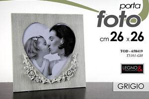 Porta Foto Cornice In Legno E Disegno Cuore Family 2626 Cm Tod