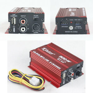 Car-Motorcycle-12V-500W-2-Channels-Mini-Stereo-Audio-Amplifier-Hi-Fi-Subwoofer