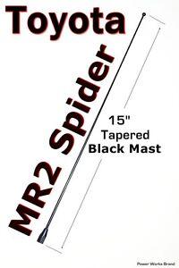"13/"" Black Stainless AM FM Antenna Mast FITS 2000-2005 Toyota MR2"