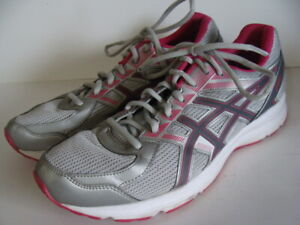 Asics Womens Jolt T7K9N Gray Pink Pink Running Shoes Lace Up Low Top Size 10 D