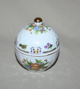butterflies Godinger  Heart shape porcelain trinket box