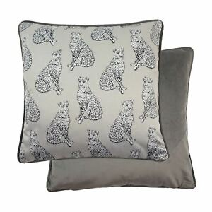 Evans-Lichfield-Safari-Leopard-Repeter-Gris-43-2cm-43CM-Cushion-Cover