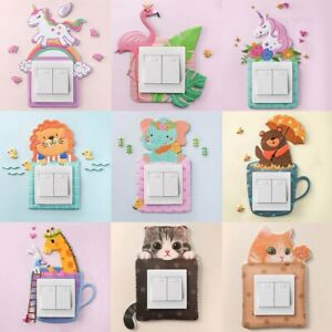 Details about Light Switch Wall Sticker Animals Childrens Bedroom Stickers  Decal Shimmer