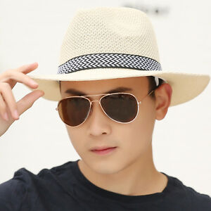 Summer Men Sun Hat Outdoor Leisure Straw Hat Fishing Cap Topee Fine