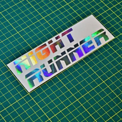 JDM Night Runner Foil Sticker Decal Drift Euro Jap Dub Stance