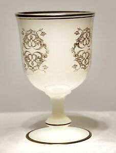 X-RARE-Antique-French-Opaline-Glass-Wedding-Cup-Marriage-Goblet-FANTASTIC