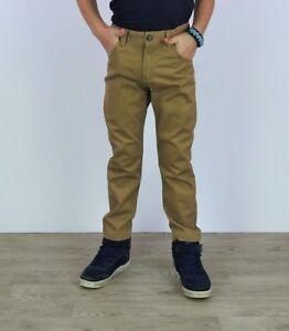 Ragazzi Pantaloni Chino KIDS Casual Navy & STONE Puro Cotone Chino Pantaloni Pants  </span>