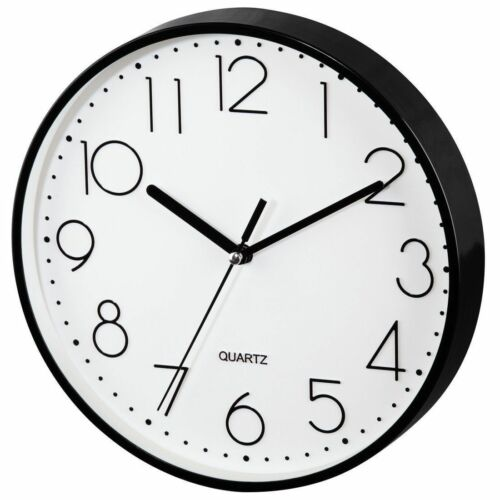 Hama PG-220 22cm Silent Sweep Wall Clock BlackKitchenLiving RoomStudy