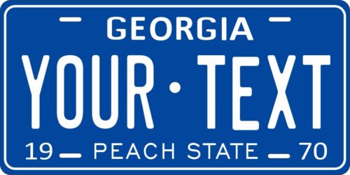 Georgia 1970 License Plate Personalized Custom Car Auto Bike Motorcycle Moped
