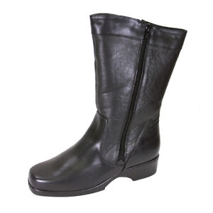 d5bf48e867ab FIC PEERAGE Maya Women Wide Width Leather Dual Side Zip Mid-Calf ...