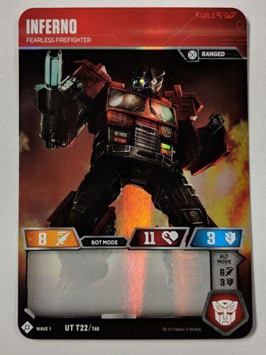 Inferno Wave 1 UT T22 1x Transformers TCG Hasbro WotC Card NM