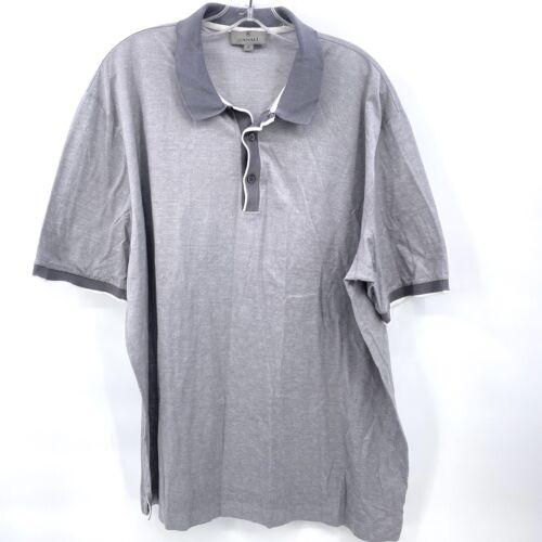 Canali Mens Polo Shirt Size 60 Italy Gray