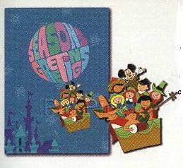 Disney WDW Spectacle of Pins Nostalgic Small World Holiday Card Pin