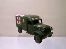DEHANES MODELS USA DODGE 4X4 ARMY AMBULANCE 1940 OLIVE-GREEN SCALE 1:48