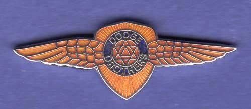 DODGE WINGS HAT PIN LAPEL PIN TIE TAC ENAMEL BADGE #0153 LG