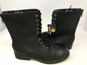 673ba1faef73 NEW! Joe Boxer Women s Alabama Lace Up Boots Black Med Wide  30597 ...