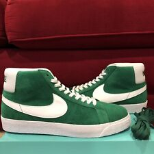 abb38e3075 Mens Nike SB Zoom Blazer Mid Pine Green White 864349-311 US 10 for ...