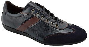 195-reacteur-Bleu-Cuir-Daim-Conduite-Decontracte-Baskets-Hommes-Chaussures
