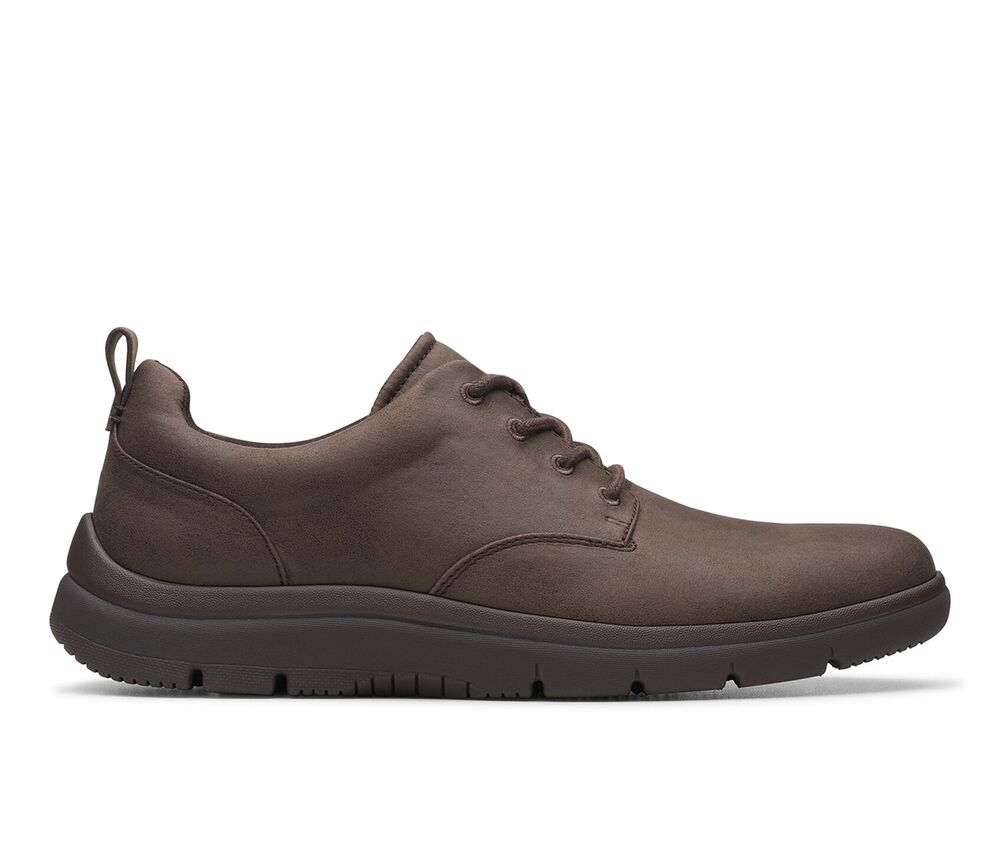 Clarks Tunsil Lane Sneakers Chaussures Homme Cuir Marron